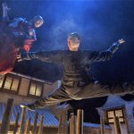 The memorable finale takes place on top of wooden poles