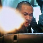 The tense shootout is more Lethal Weapon than John Woo