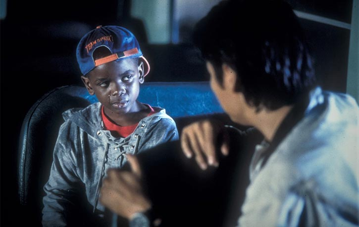 Tommy has a heart to heart wih young Luther
