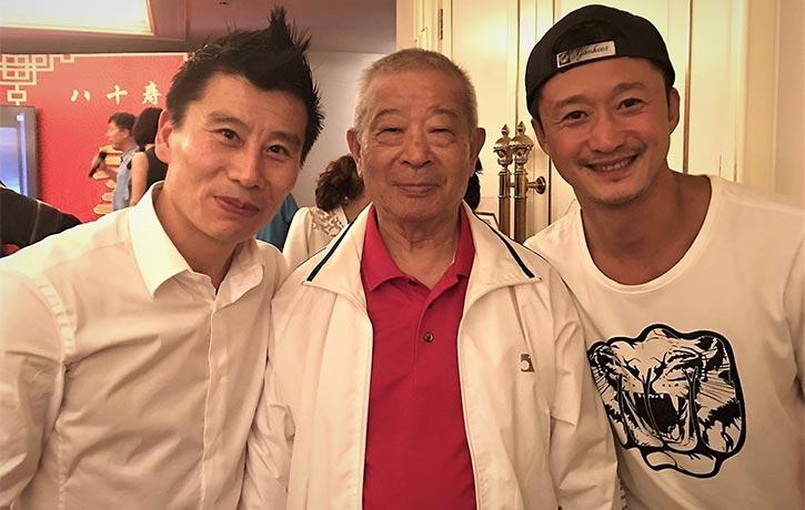 Master Wu Bin with with Wu Jing