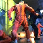 Ryan fends off an attacking inmate
