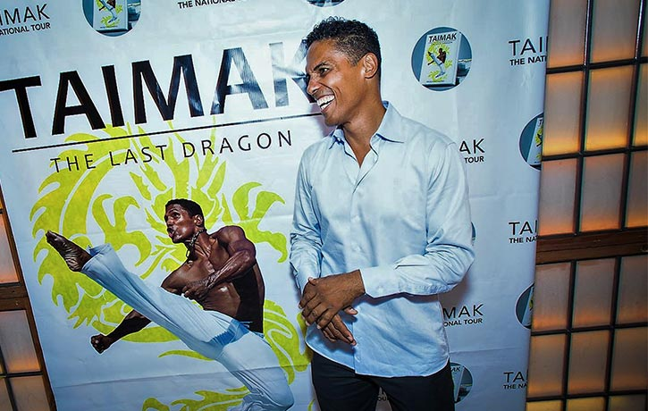 Taimak is renown for his performance in The Last Dragon