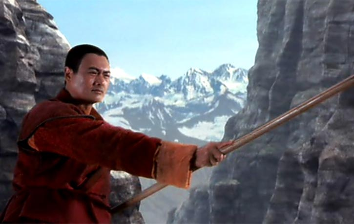 The Monk is a master of the bo staff