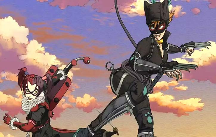 Catwoman leaps in to fight Harley Quinn