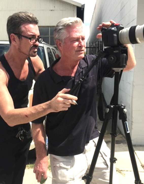 Gary coordinates the next shot