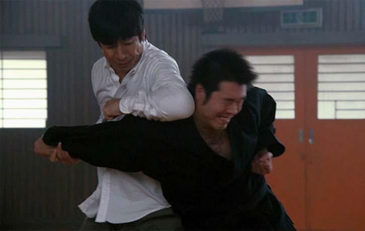 Sensei Matsumura puts his enemy down