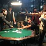 Clayton on the set of Blindsided with Eric Jacobus