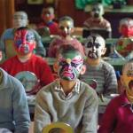 The children learned singing, acrobatics, martial arts and how to paint their faces