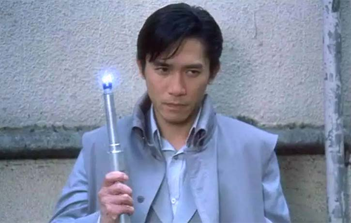 Lin keeps a shocking tool by his side!