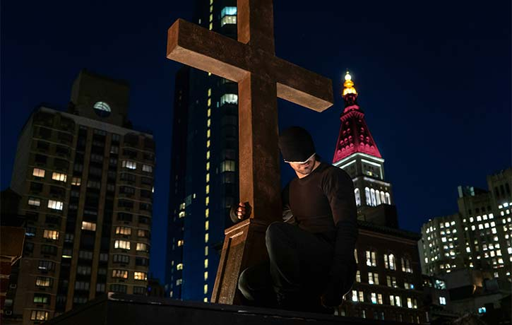 Matt watches over the streets of Hell's Kitchen as Daredevil