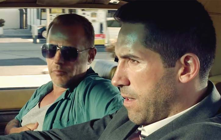 Scott Adkins and Louis Mandylor in The Debt Collector