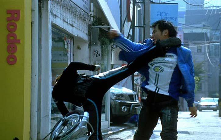 Sun Ah drops her attacker