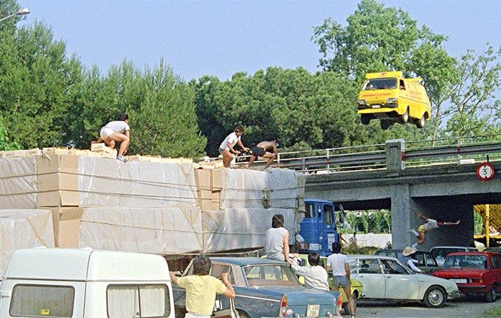 Crazy stunts galore