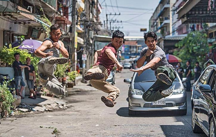 Tiger, Iko Uwais, and Tony Jaa leap into action in Triple Threat!