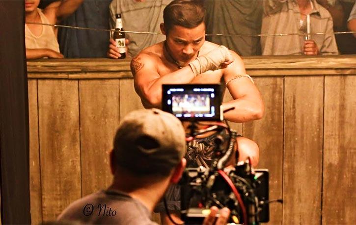 Tony preps for the Muay Thai ring battle