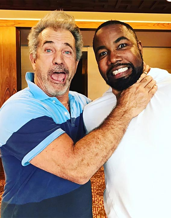 Mike with Mel Gibson -Dragged Across Concrete film coming up!