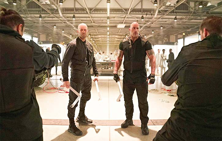 Hobbs and Shaw prepare to face off with Eteon