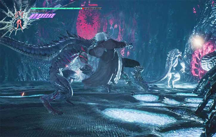 Dante attempts a 540 kick