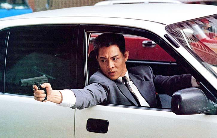Li looks perfectly at home handling firearms