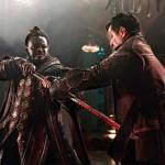 Sunny deflects Pilgrim's blade attack