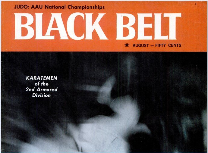 August 1965 Black Belt Magazine with Jimmy H. Woo