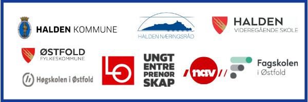Halden kommune, NAV, LO, Halden næringsråd, Fagskolen i Østfold, Halden videregående skole, Høgskolen i Østfold, Ungt entrepenørskap, LO