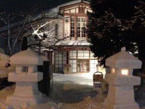 九里学園雪灯籠