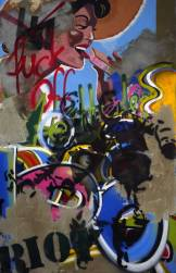 Riot - mixed media on canvas - 47 inches x 67 inches