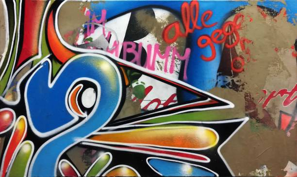 Alle gegen Alle - mixed media on canvas - 67 inches x 40 inches