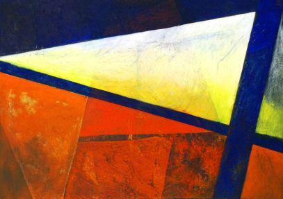 vom-Traum-zu-See-3,-50x70cm,-Mischtechnik-auf-Leinwand,-2009