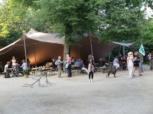 Tent op festival terrein