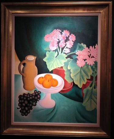 Gustave Van De Woestyne, Derniers fruits premières fleurs,olieverf op doek, 90.5 x 71 cm, 1928