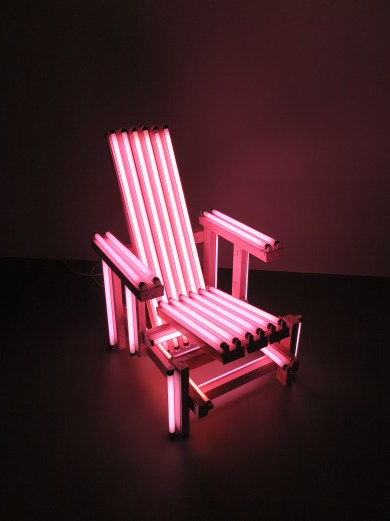 Ivan Navarro - Pink electric chair - 2006