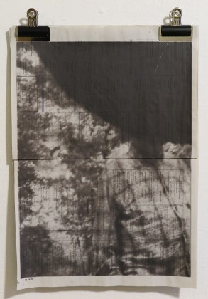 Gunter Gruben - fotoprint op krant