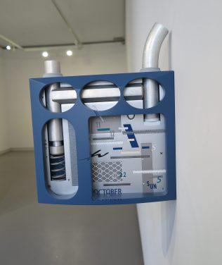 Werk uit de expositie van Prix de Rome onder de title Leaves.