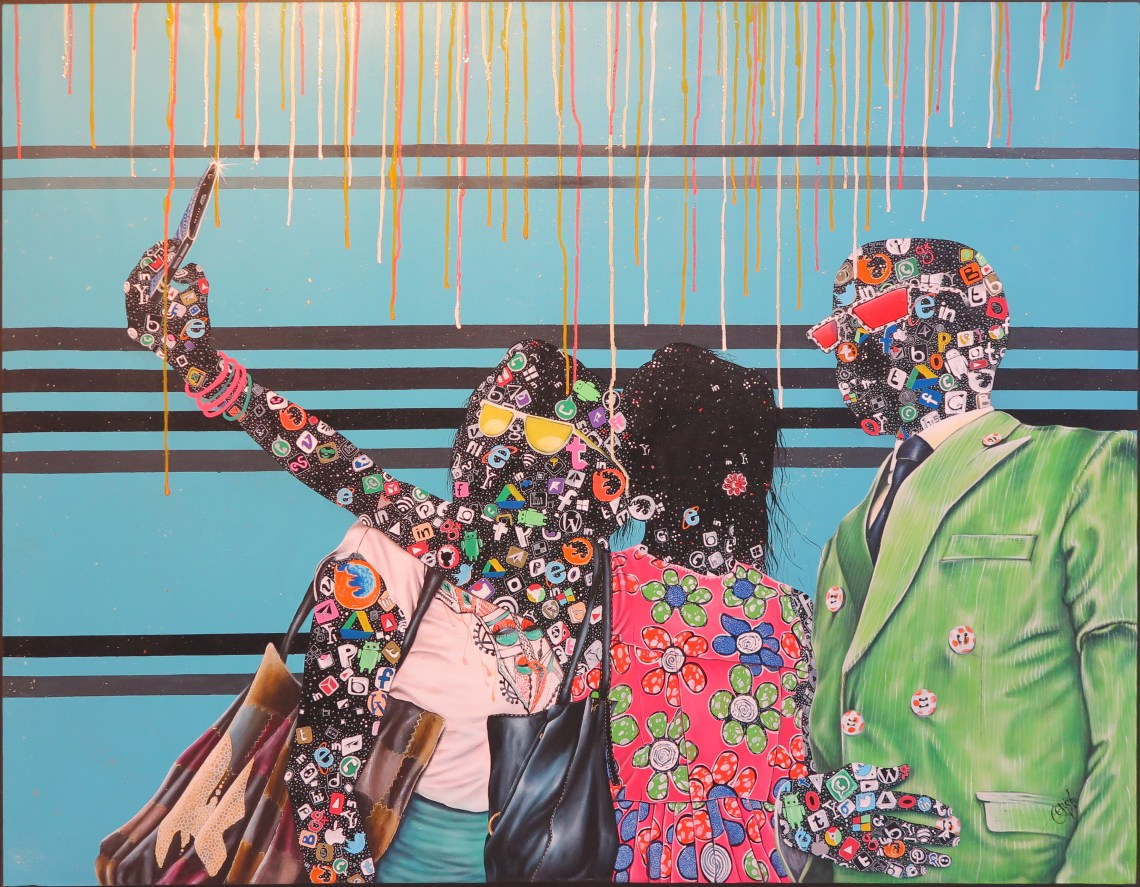 Boris Anje Tabufor - Notre Vie - 2017 - acryl op doek