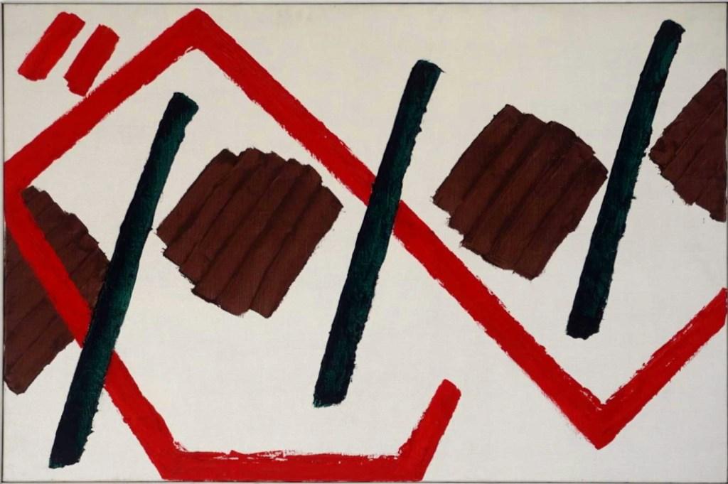 Composition, 1962, olieverf op linnen.