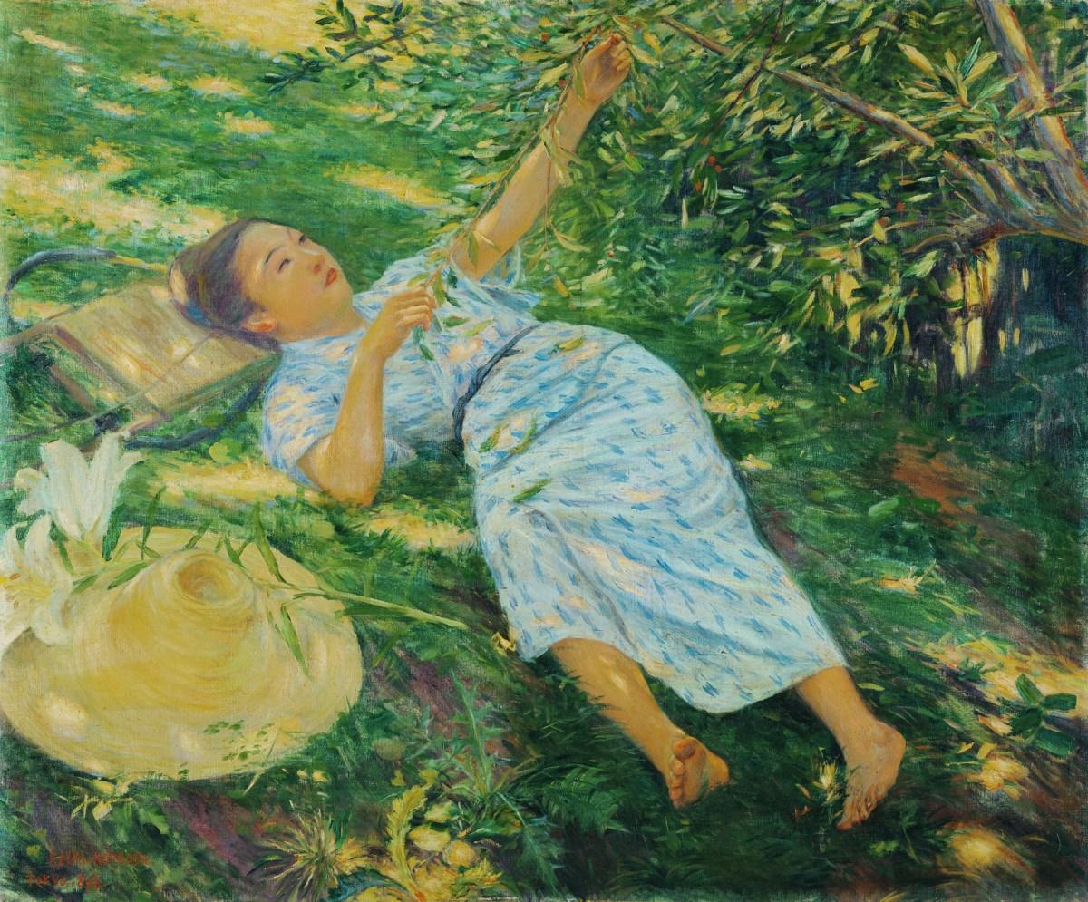 Een Golf Van Kleur Impressionisme Uit Japan Vensters