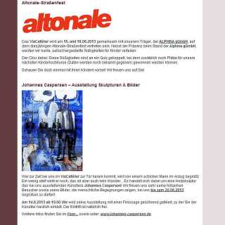 Johannes Caspersen zeigt Skulpturen und Bilder im ViaCafélier
