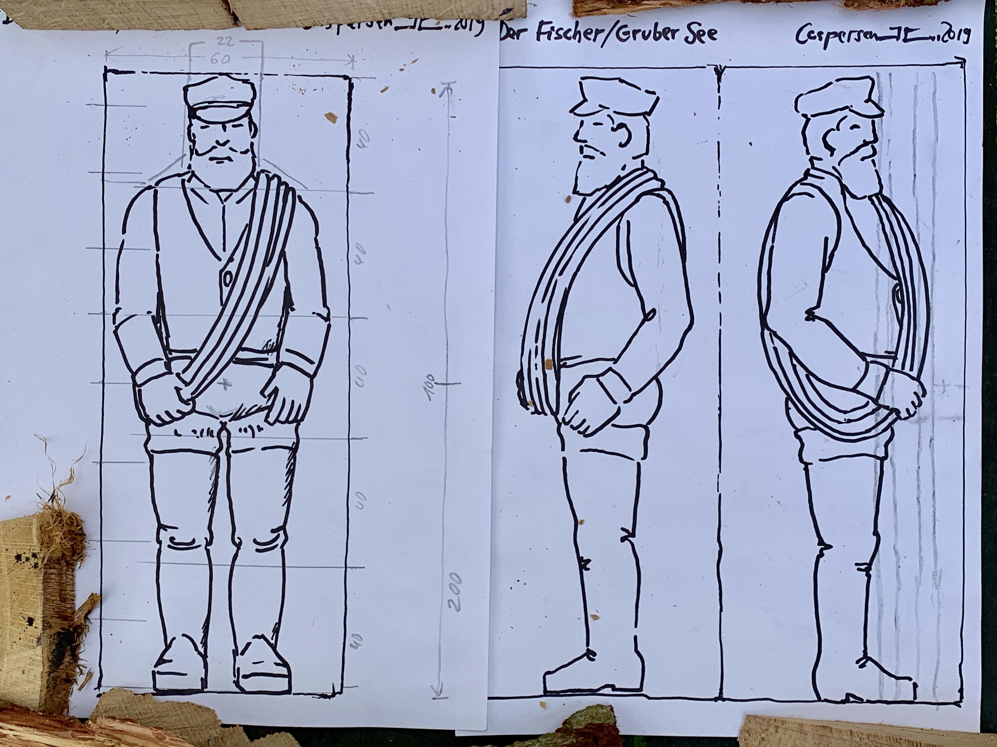 """Landkunststueck """"Fischer"""" von Johannes Caspersen"""