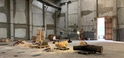 Die Heilige Familie in der Werkhalle von Johannes Caspersen