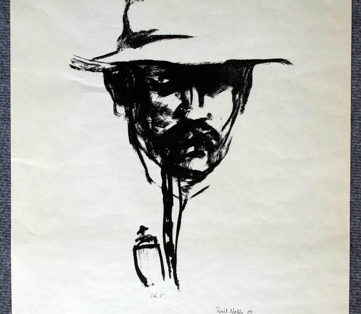 Emil-Nolde, selbst mit Pfeife-60 x 42 cm, Druck