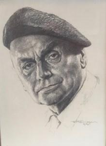 Franz Kienmayer, selbst, Zeichnung, 40 x 30cm