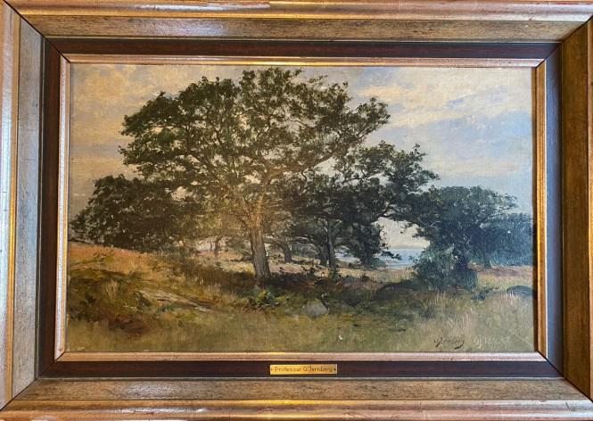 Prof. Olof Jernberg (* 23. Mai 1855 in Düsseldorf; † 15. Februar 1935 in Berlin) Öl auf Holz, 38x60cm, signiert,Rahmen defekt