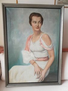 Franz Kienmayer, Junge Leipziger Pelzhändler Tochter, um 1930, Öl/Lw., 100 x 70cm