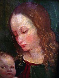 """Maria mit Kind"", Lorenzo Costa der Ältere oder Amico ASPERTINI (1475-1552)"