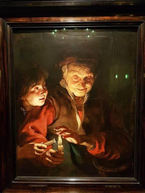 oude vrouw met kaarsen peter paul rubens