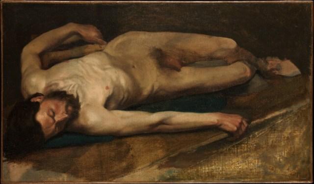 Male Nude - Edgar Degas