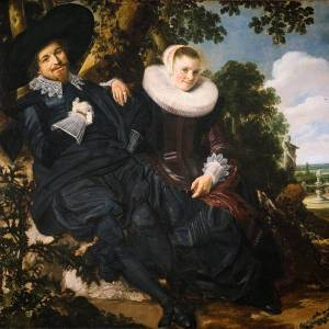 Het huwelijksportret Isaac Massa en Beatrix van der Laen