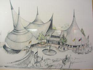 tekening entree Efteling